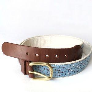 Vintage Leather Man Ltd. Swordfish Woven Belt 40
